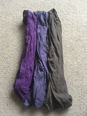 Maternity Tights Size M (12/14) 3 Pairs Vgc