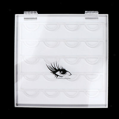 Clear Acrylic False Eyelash Storage Case Box Makeup Organizer Display Stand