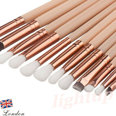 12x Professional Eyeshadow Blending Pencil Eye Brushes Set Makeup Tool UK SELLER