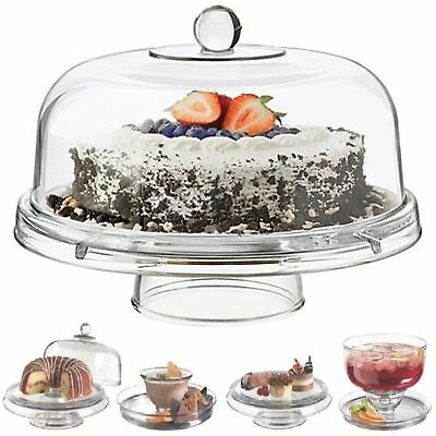 6 in 1 cake stand Display rack Cupcake Holder Dome plastic Lid salad bowl