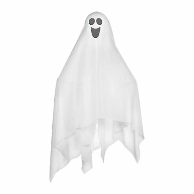 Halloween Large Fabric Ghost with Bendable Arms Safe Soft Fancy Hang Decoration