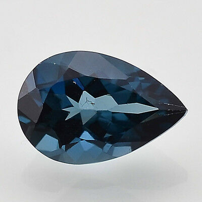 2.04 Cts Natural London Blue Topaz 8x12 mm Pears Cut Loose Gemstone LBT1033