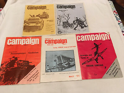 Vintage Campaign Wargames magazines issues 74,75,78, 79,82.