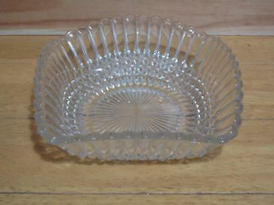 Cut Glass bon bon dish vintage FREE UK P & P