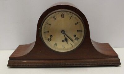 Large Chiming Vintage Mantel Clock - with keys - 43cms wide - unbranded.