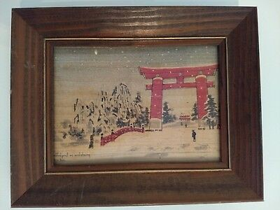 Antique Japanese Wood Block Print - Vintage Japan Woodblock