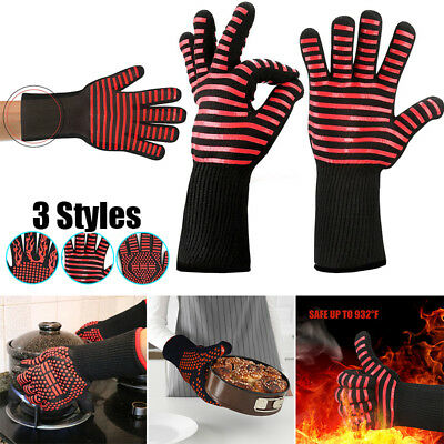 2018 Grill Heat Resistant BBQ Gloves Anti-Cut Insulated Durable Fireproof Z1