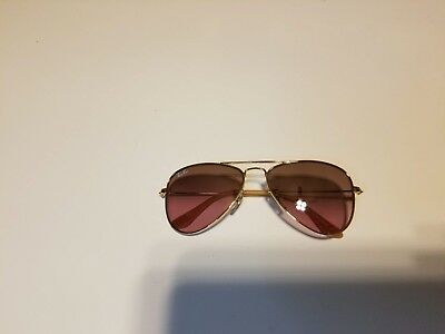 New Authentic Kids Ray Ban Junior RJ9506s Gold Frame Lavender Lens Sunglasses