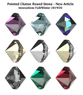 Genuine SWAROVSKI 1185 Pointed Chaton Round Unfoiled Crystals * Many Colors