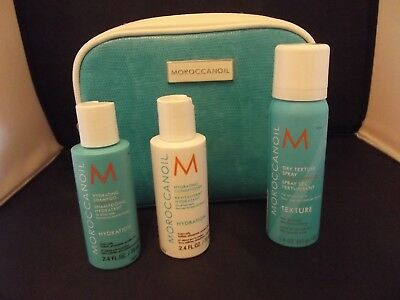 MOROCCANOIL hydration shampoo, conditioner, dry texture spray & travel bag
