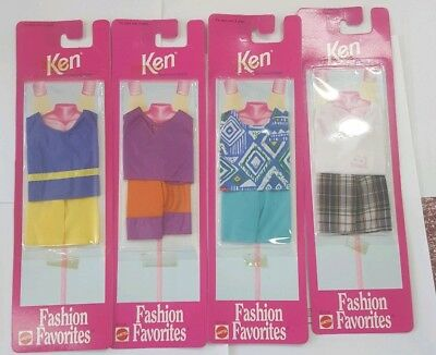 New Barbie doll Ken clothes set of 4 summer outfits
