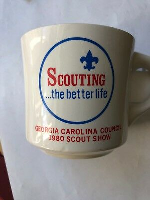 Vintage Boy Scouts Cup   Scouting The Better Life Georgia Carolina 1980 Scout Sh