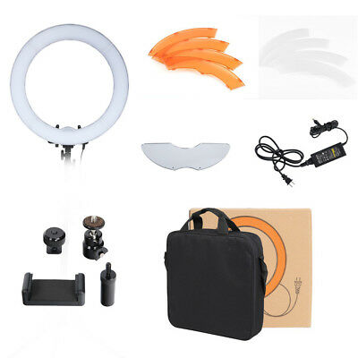 """18"""" 240 LED Ring Light Dimmable 55W 5500K Lighting Video Continuous Lighting #D"""