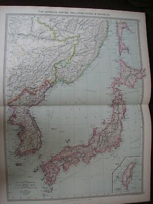 Map of the Japanese Empire about 1906