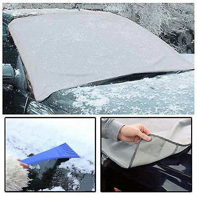 Magnetic Car Windscreen Cover Frost Ice Sun Shield Snow Protector + Ice Scraper