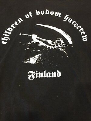 Lot Of 2 Children Of Bodom C.O.B.Shirts Arch Enemy In Flames