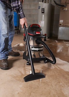 Stainless Steel wet/dry vac 6 gallon 4.5 peak HP by Shop Vac