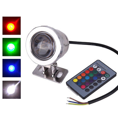 Underwater Led Swimming Pool Light 10W RGB 120° Colorful Fountain Bulb Lamp