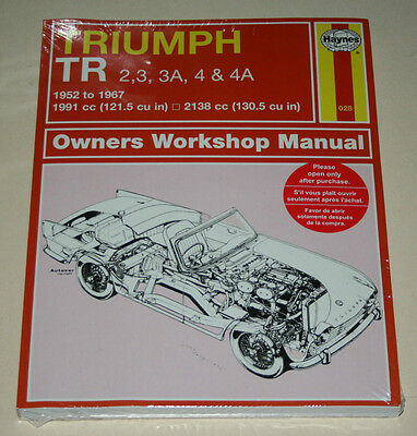 Repair Manual Triumph Tr 2 / Tr 3 + 3A/Tr 4+4A, Year of Construction 1952 - 1967