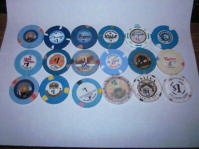 51 Casino Chip Mixed Lot - $1, $2, $2.50, $5 chips