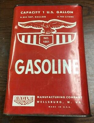 Eagle Vintage 1 Gallon Gas Can Made In USA
