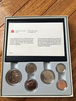 Royal Canadian Mint 1981 Uncirculated Coins with Book - NIB