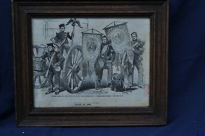Crimean Heroes And Trophies At Woolwich April 12 1856 Print