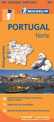 Portugal North Map - New - Michelin 591 Portugal Regional Mapping - 2017
