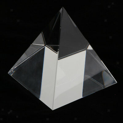 80mm Clear Optical Pyramid Crystal Prism Science Optics Ornament Paperweight