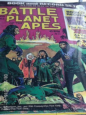 Battle For The Planet Of The Apes Book And Record Set Pr 21 Power 1974 Comics