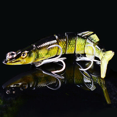 1PC Jointed Swimbait Fishing Lure 5.5g/8cm 7 Section Bassbait with 6#Hook Tackle