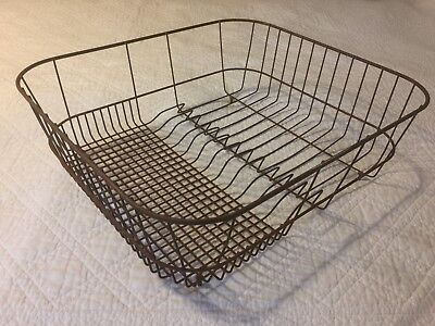 Antique Vintage Wire Kitchen Sink Dish Drainer Drying Rack Farmhouse Primitive