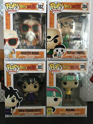 Funko Pop Dragon Ball Z 4 Pop Bundle Roshi, Goku, Bulma, Tien and Chiaotzu