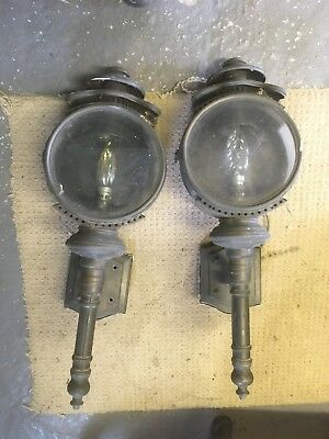 Antique Brass External Coach Lamps x 2 used.
