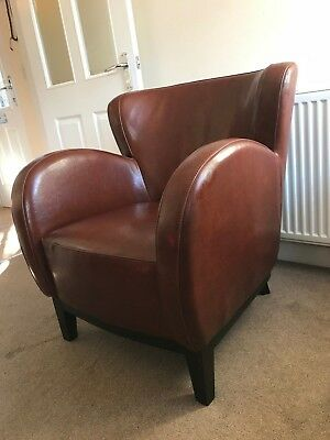 Vintage Style Faux Leather Armchair – Great Condition