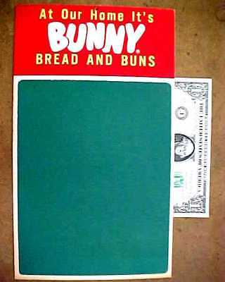 "Vintage Bunny Bread Advertising Premium Sign / Grocery List Chalkboard 12"" x 7"""
