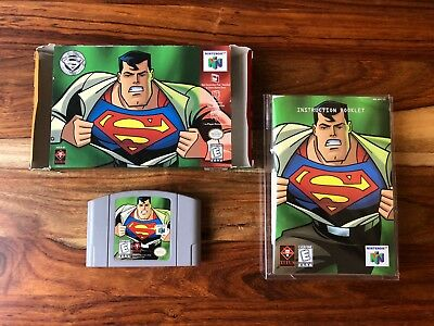 Superman (Nintendo 64, 1999) N64 CIB Complete Box Manual + Comic Book VERY NICE