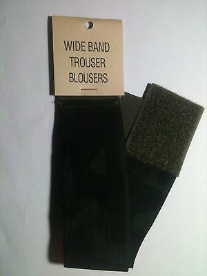 "US Military Elastic Boot Trouser Blousers 2"" Wide Band Pair BDU Woodland Camo"
