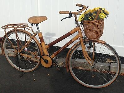 Vintage Bamboo, Wicker And Rattan 1940-1960 Bicycle.