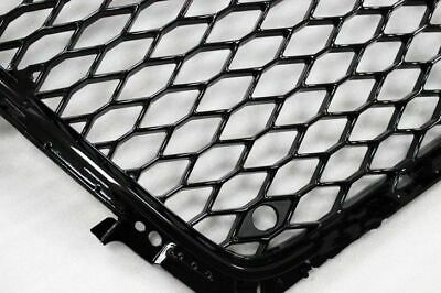 For 2009-2012 Audi A4 S4 B8 8T RS4 Style Honeycomb Mesh Hex Grille - Gloss Black