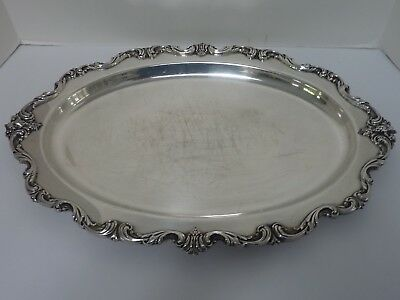 "Vintage International Silver ORLEANS 20"" Ornate Oval Serving Tray Platter"