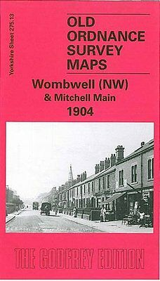 Old Ordnance Survey Map Of Wombwell Nw & Mitchell Main 1904