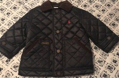 EUC Ralph Lauren Infant Boys 9 Months Navy Quilted Jacket