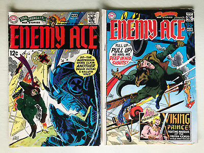 DC Enemy Ace #143 1969 Kubert Cover and #149 1970
