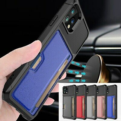 For Apple iPhone XS Max/XR/8/7 TPU Slim Magnetic Car Holder Back Slim Case Cover