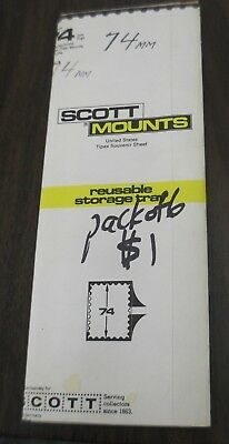 6 strips of Scott clear stamp mounts 74 mm high in opened pack