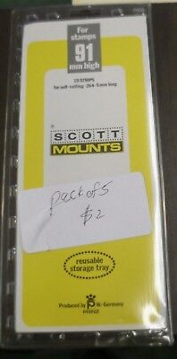 5 strips of Scott black stamp mounts 91 mm by 264 in opened pack