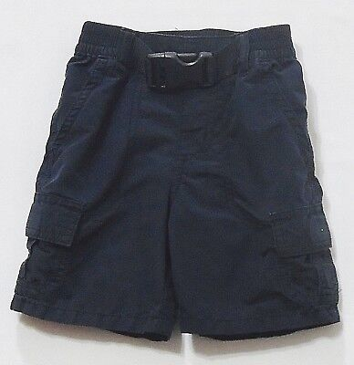 """Gymboree """"Space Voyage"""" Navy Blue Pull-On Belted Cargo Shorts, 18-24 mos."""