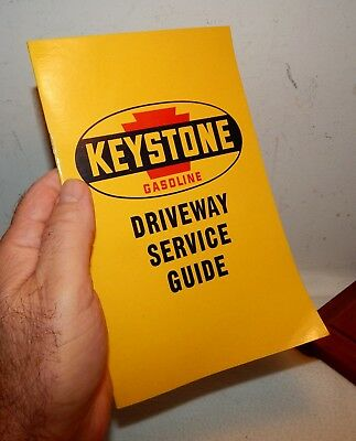 1950's Keystone Gasoline Gas Station Driveway Service Guide for Gas Attendants