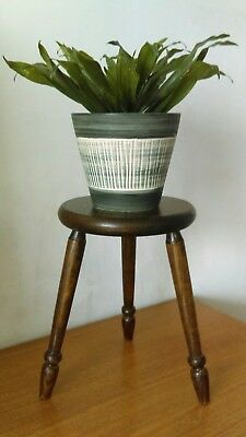 Vintage Wooden Stool Plant Stand
